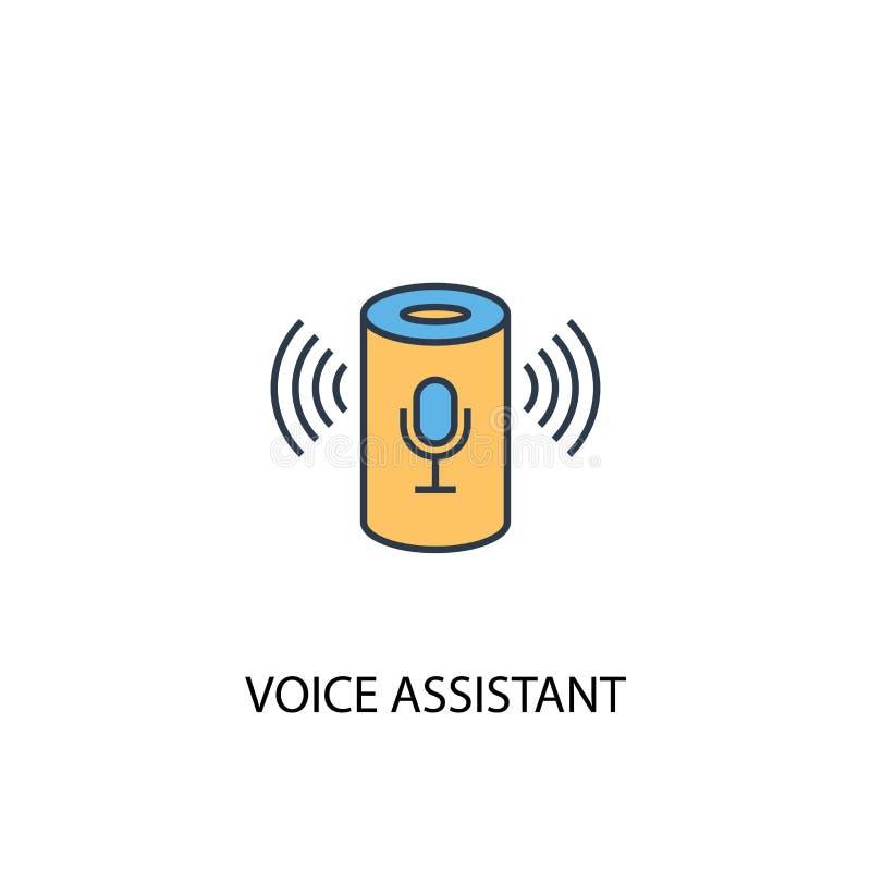 Linha colorida do conceito de assistente de voz 2 ilustração do vetor