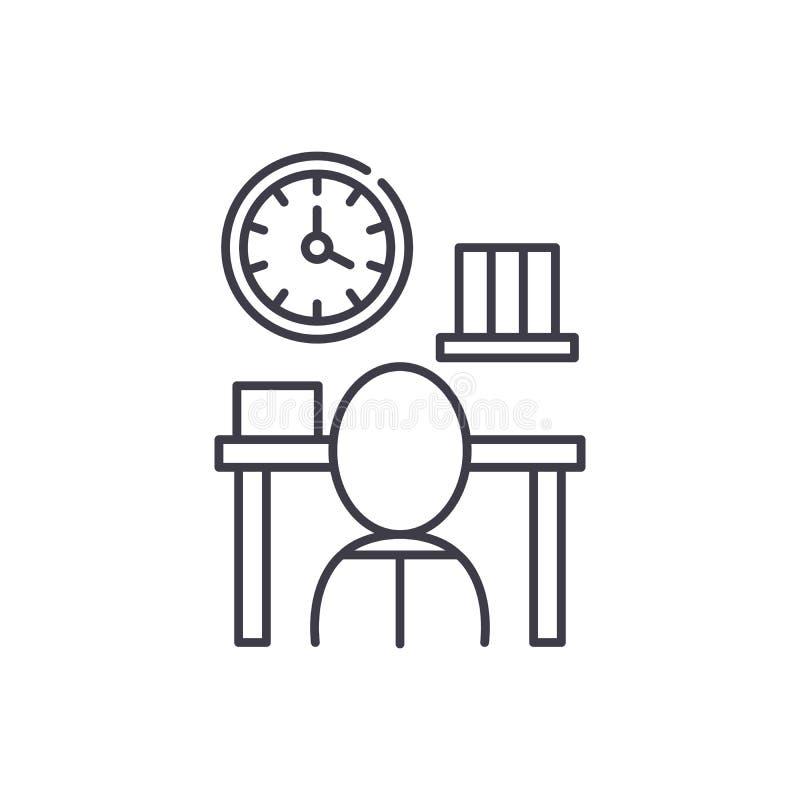 Linha conceito da burocracia do ícone Ilustração linear do vetor da burocracia, símbolo, sinal ilustração stock