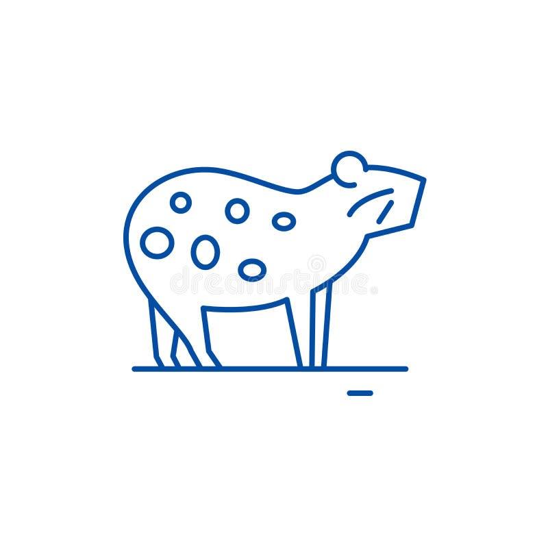 Linha conceito da cobaia do ícone Símbolo liso do vetor da cobaia, sinal, ilustração do esboço ilustração royalty free