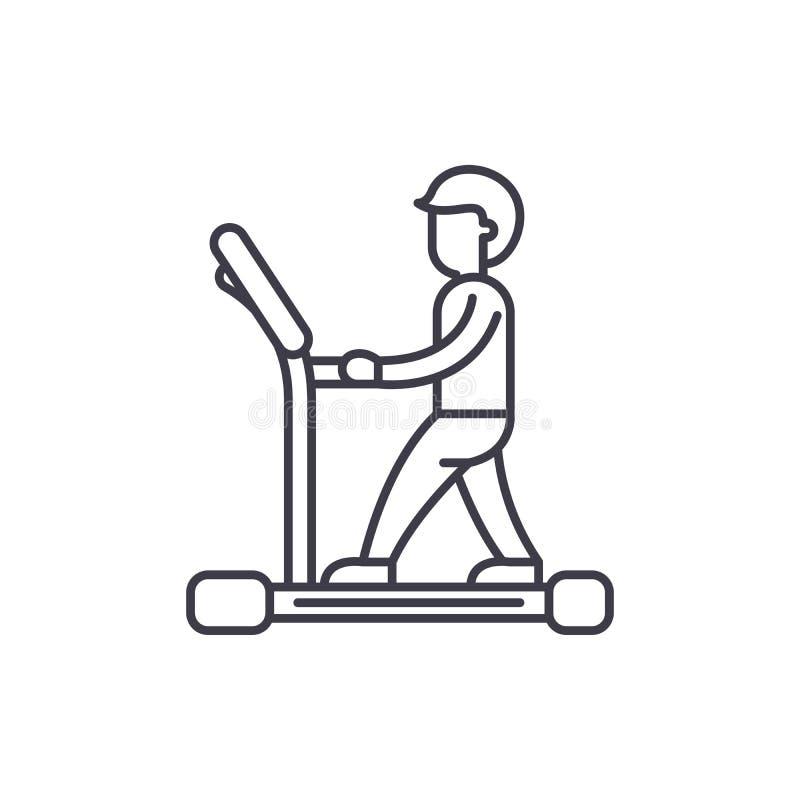 Linha conceito da escada rolante do ícone Ilustração linear do vetor da escada rolante, símbolo, sinal ilustração stock