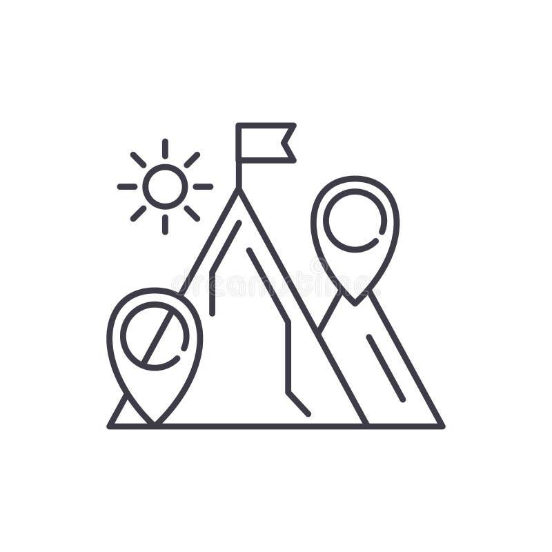 Linha conceito da finalidade de negócio do ícone Ilustração linear do vetor da finalidade de negócio, símbolo, sinal ilustração royalty free