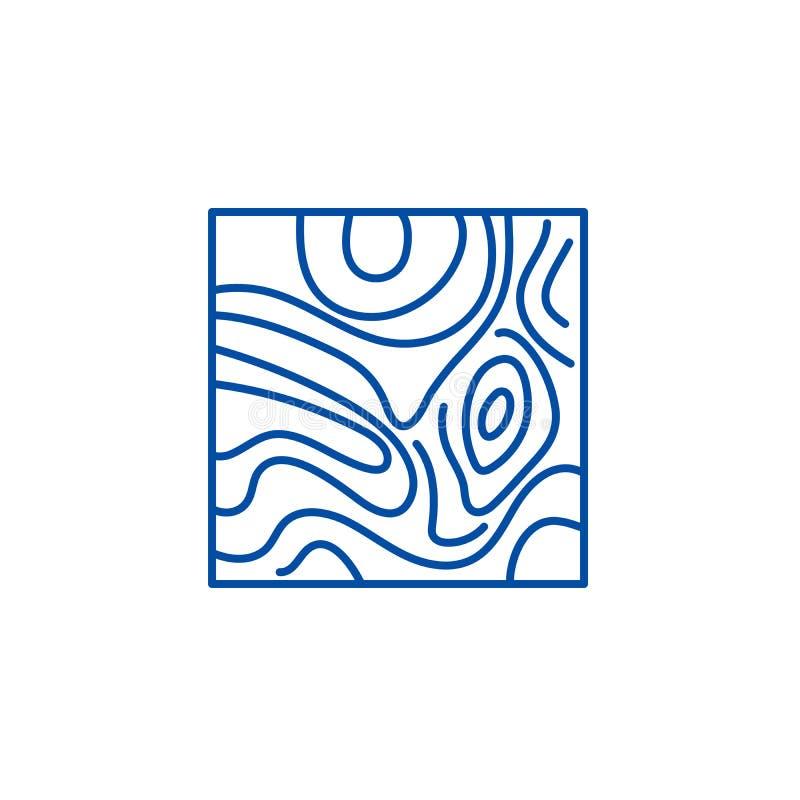 Linha conceito da tábua corrida do ícone Símbolo liso do vetor da tábua corrida, sinal, ilustração do esboço ilustração royalty free