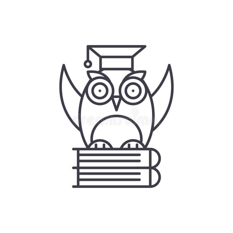 Linha conceito da teoria do ícone Ilustração linear do vetor da teoria, símbolo, sinal ilustração royalty free