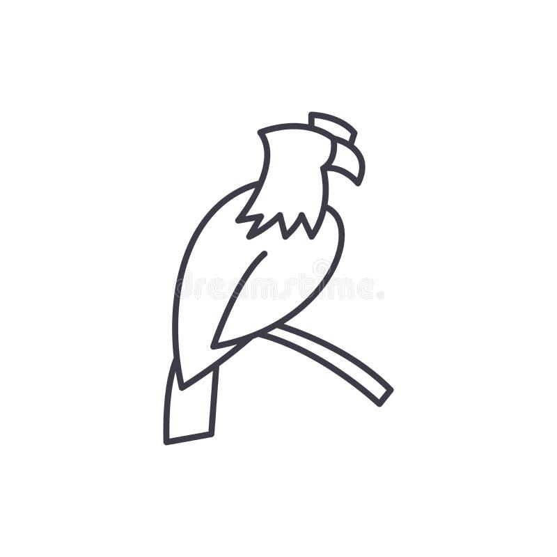Linha conceito de Eagle do ícone Ilustração linear do vetor de Eagle, símbolo, sinal ilustração do vetor