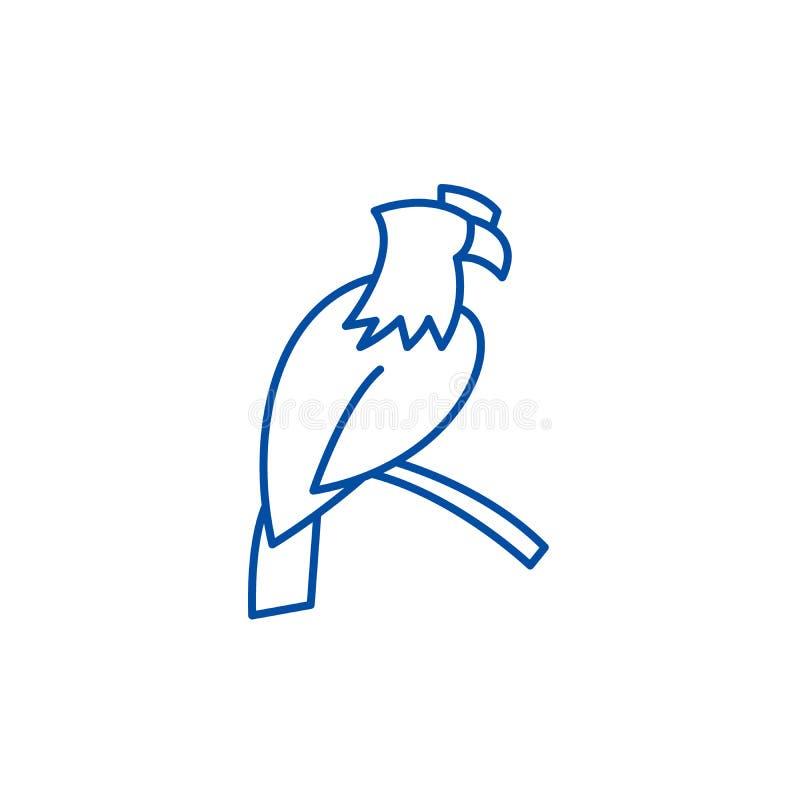 Linha conceito de Eagle do ícone Símbolo liso do vetor de Eagle, sinal, ilustração do esboço ilustração royalty free