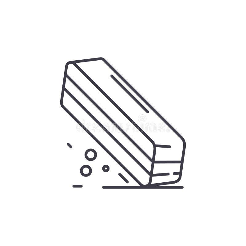Linha conceito do eliminador do ícone Ilustração linear do vetor do eliminador, símbolo, sinal ilustração royalty free