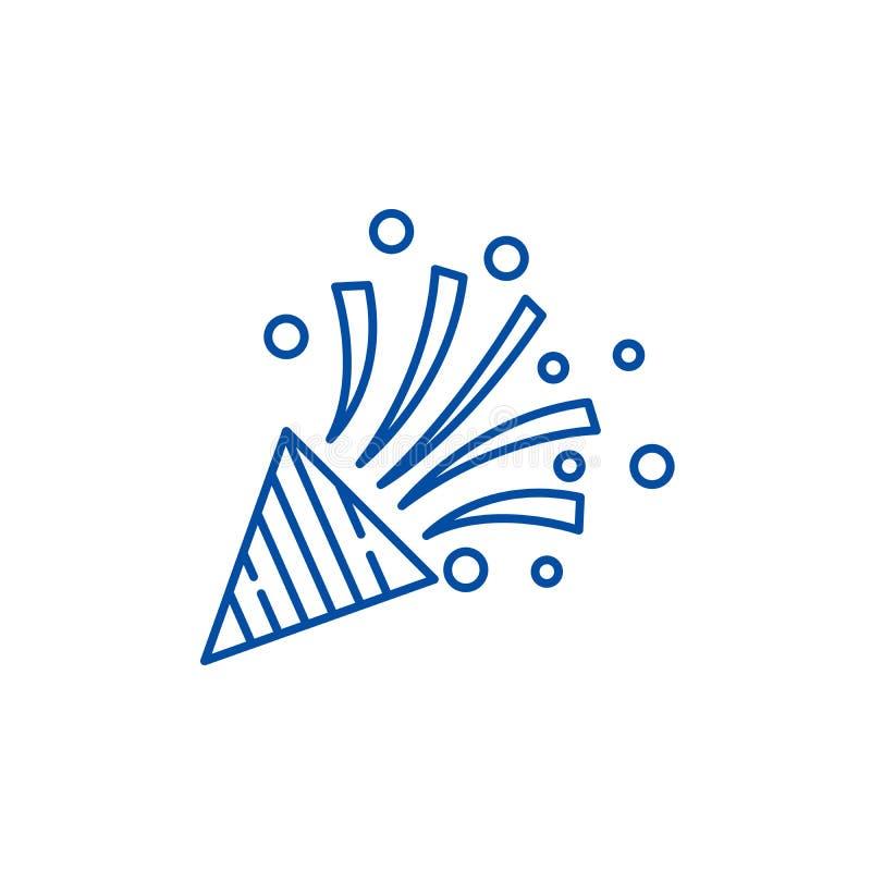 Linha conceito do flapper do partido do ícone Símbolo liso do vetor do flapper do partido, sinal, ilustração do esboço ilustração stock