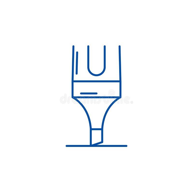 Linha conceito do marcador do ícone Símbolo liso do vetor do marcador, sinal, ilustração do esboço ilustração royalty free
