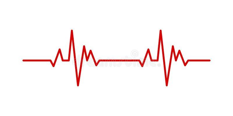 Linha conceito médico do pulso da pulsação do coração da saúde do vetor para o projeto gráfico, logotipo, site, meio social, app  ilustração stock