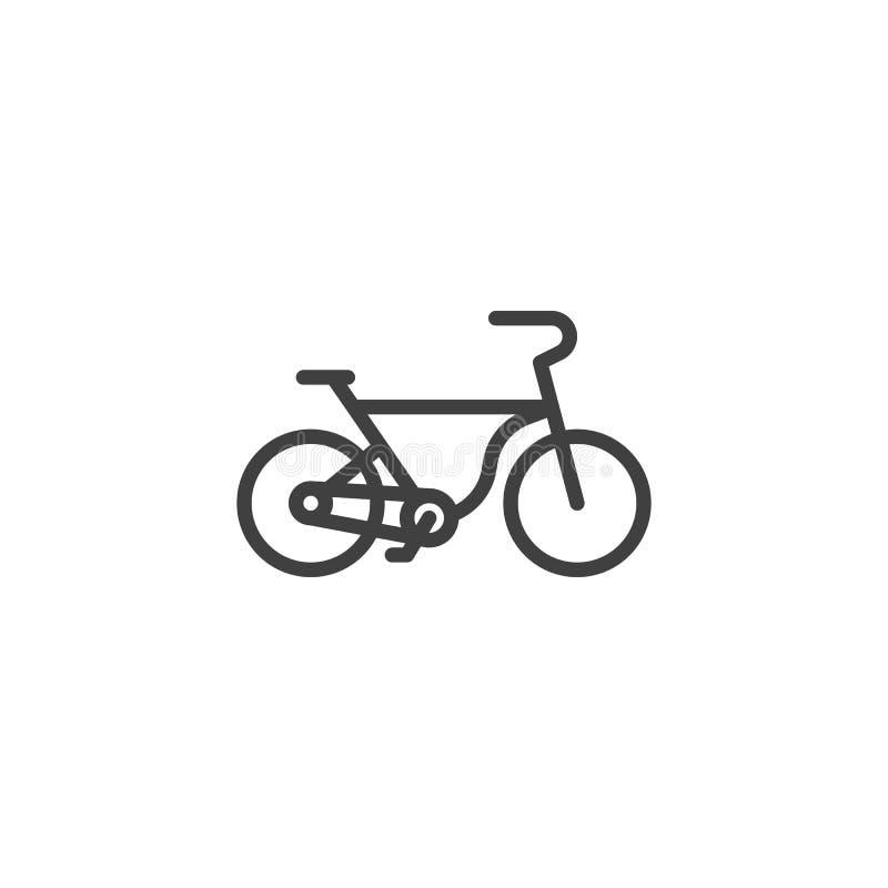 Linha ?cone da bicicleta ilustração stock