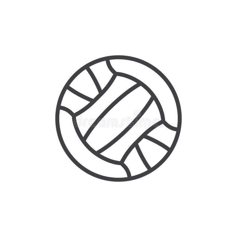Linha ?cone da bola do voleibol ilustração do vetor