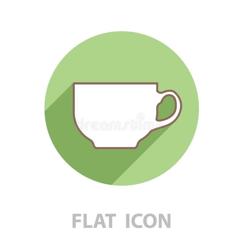 Linha ?cone do copo de caf? ilustração royalty free