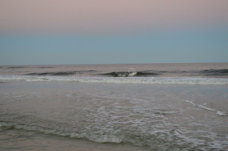 Linha costeira da praia de Jacksonville fotografia de stock royalty free