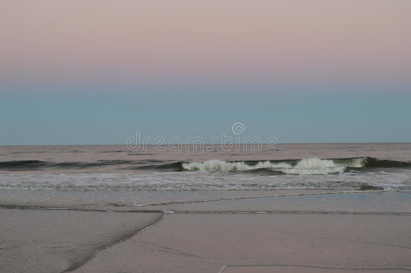 Linha costeira da praia de Jacksonville foto de stock