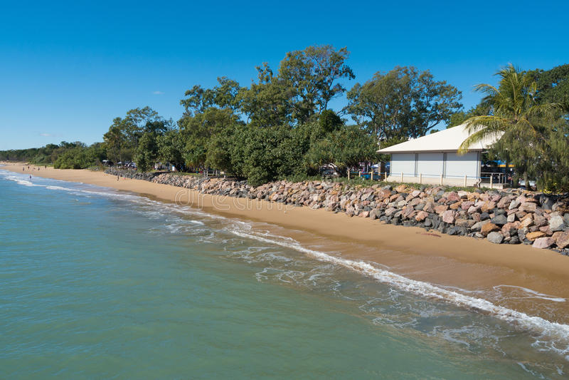 Linha costeira de Hervey Bay imagens de stock