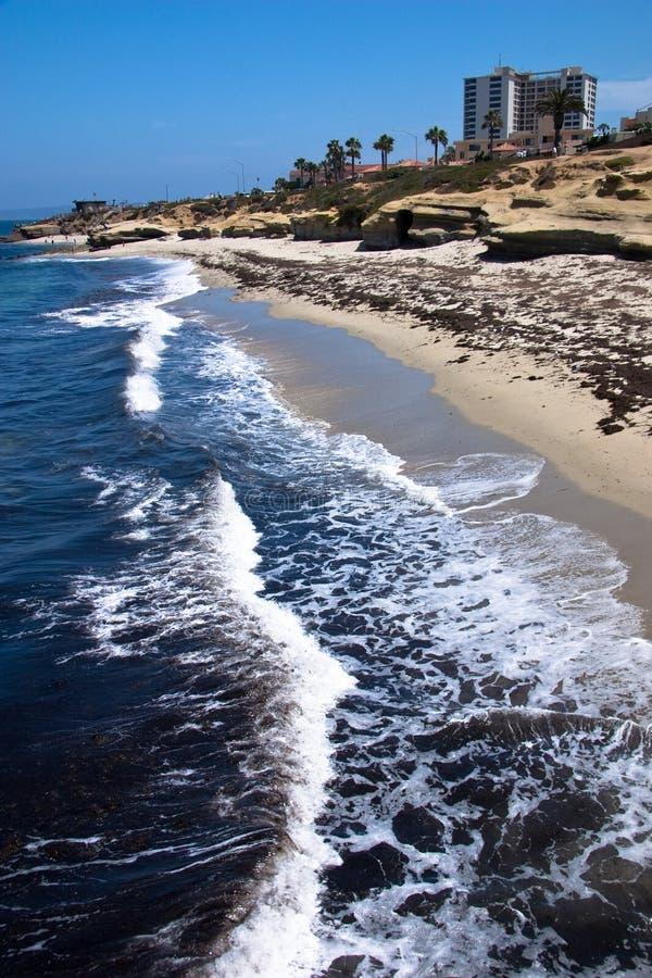 Linha costeira de La Jolla fotos de stock royalty free