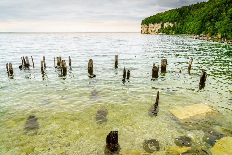 Linha costeira do parque estadual de Fayette fotos de stock royalty free