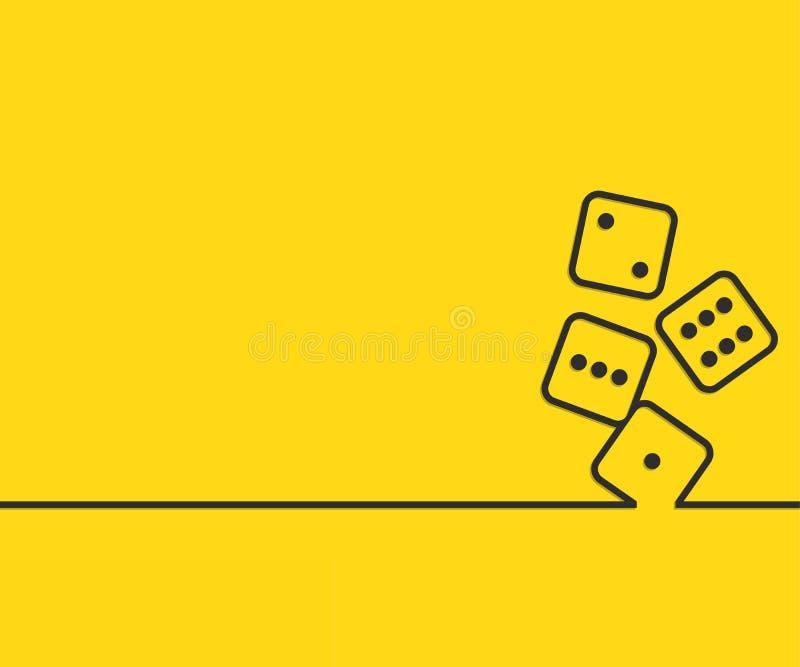 Linha criativa abstrata fundo para a Web, app móvel do conceito da tração, projeto do molde da ilustração, negócio infographic, p ilustração royalty free