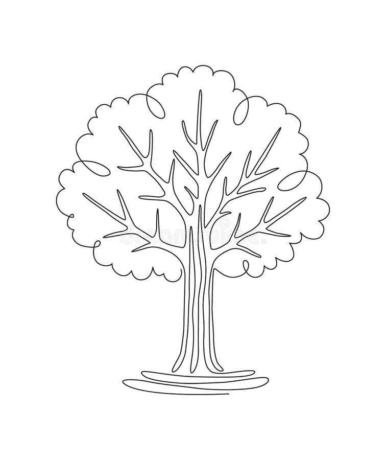 Linha da árvore uma ilustração stock