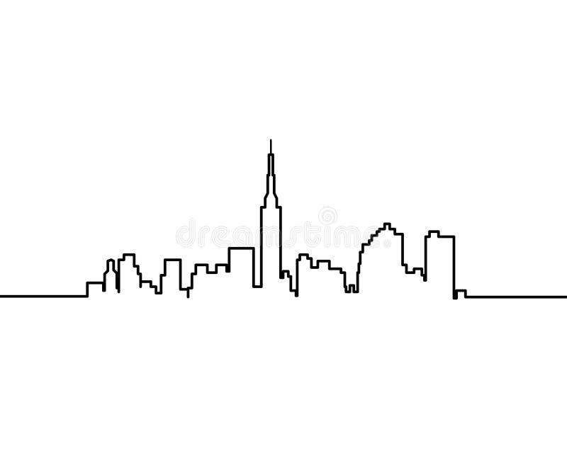 Linha da arquitetura da cidade uma ilustração royalty free