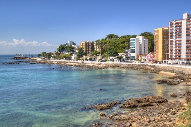 Linha da costa de Salvador fotografia de stock royalty free