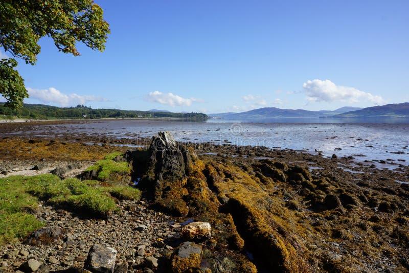 Linha da costa de Swilly do Lough fotos de stock royalty free