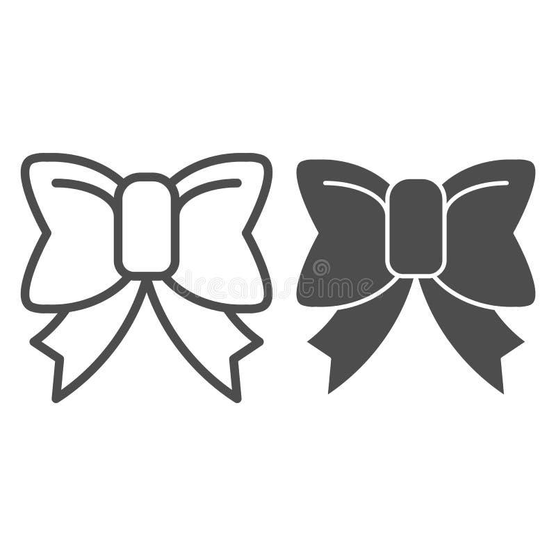 Linha da curva e ícone bonitos do glyph Ilustração do vetor da curva da fita isolada no branco Projeto elegante do estilo do esbo ilustração royalty free
