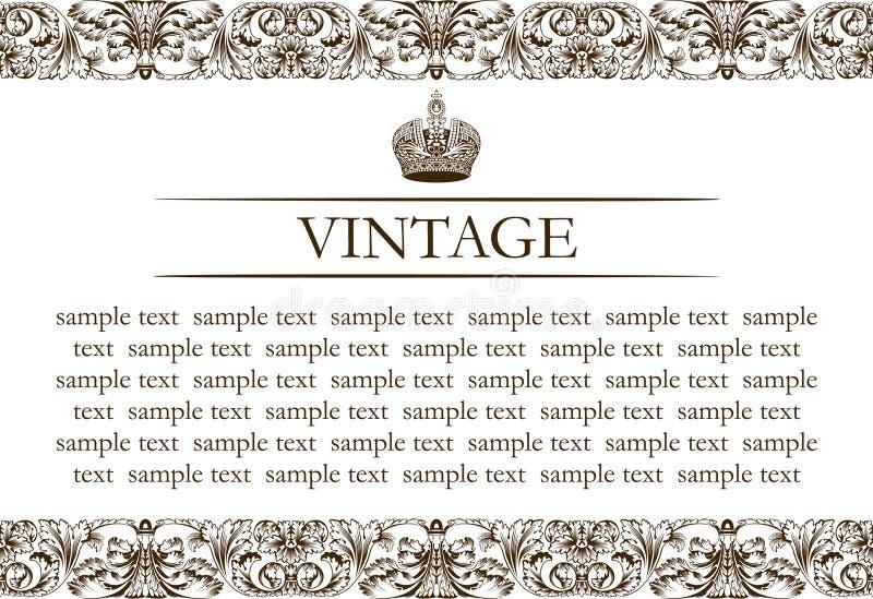 Linha da decoração do frame do vintage ilustração royalty free