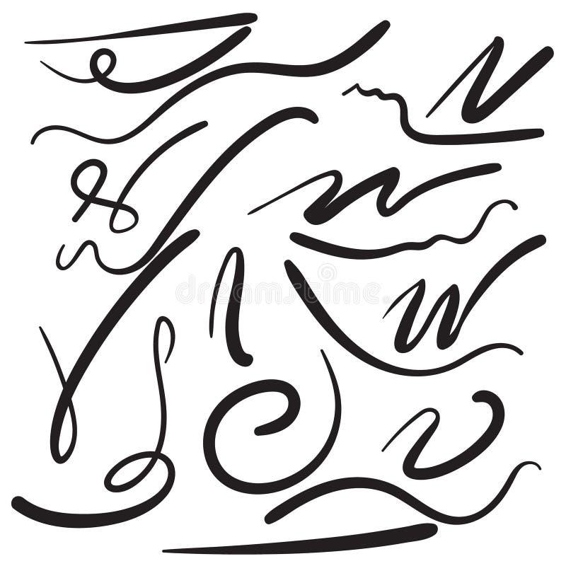 Linha da escova da ponta de feltro ilustração stock