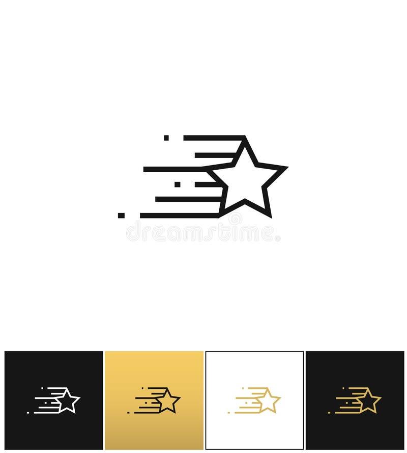 A linha da estrela caracteriza o ícone do vetor ilustração stock