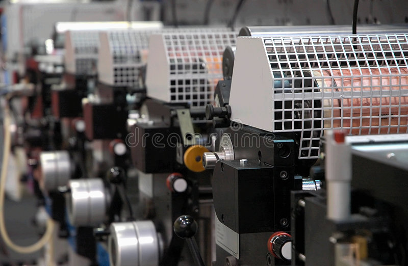 Linha da impressão imagens de stock