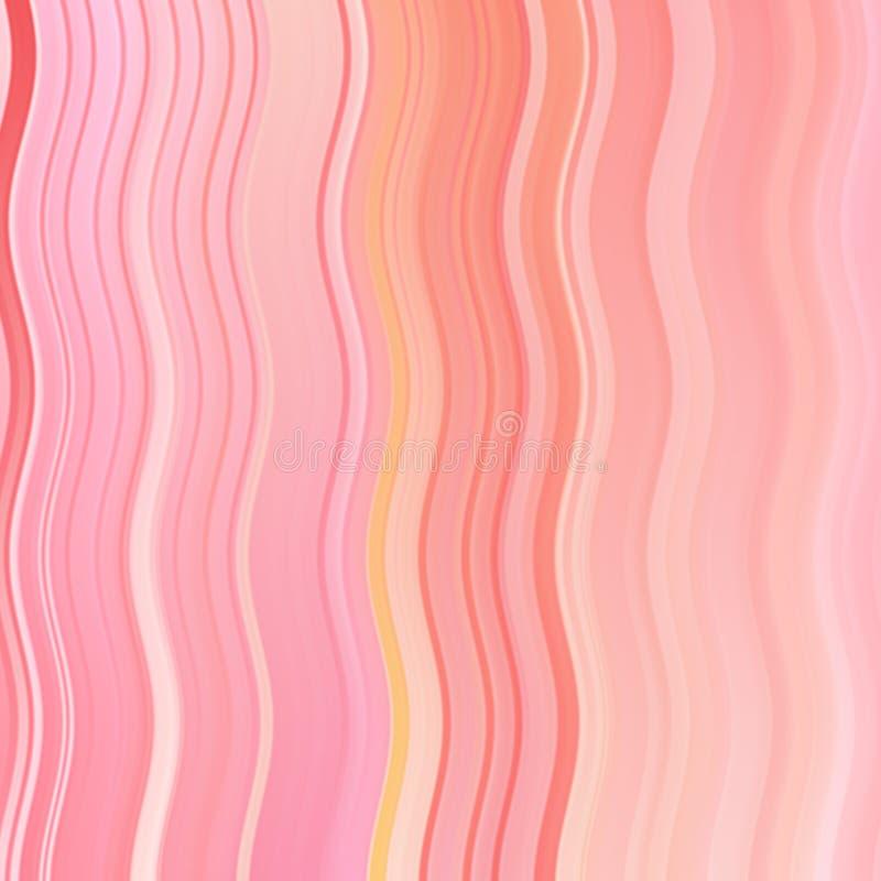 Linha da onda da cor vermelha e fundo abstratos da listra com teste padrão colorido das linhas e das listras do inclinação ilustração royalty free