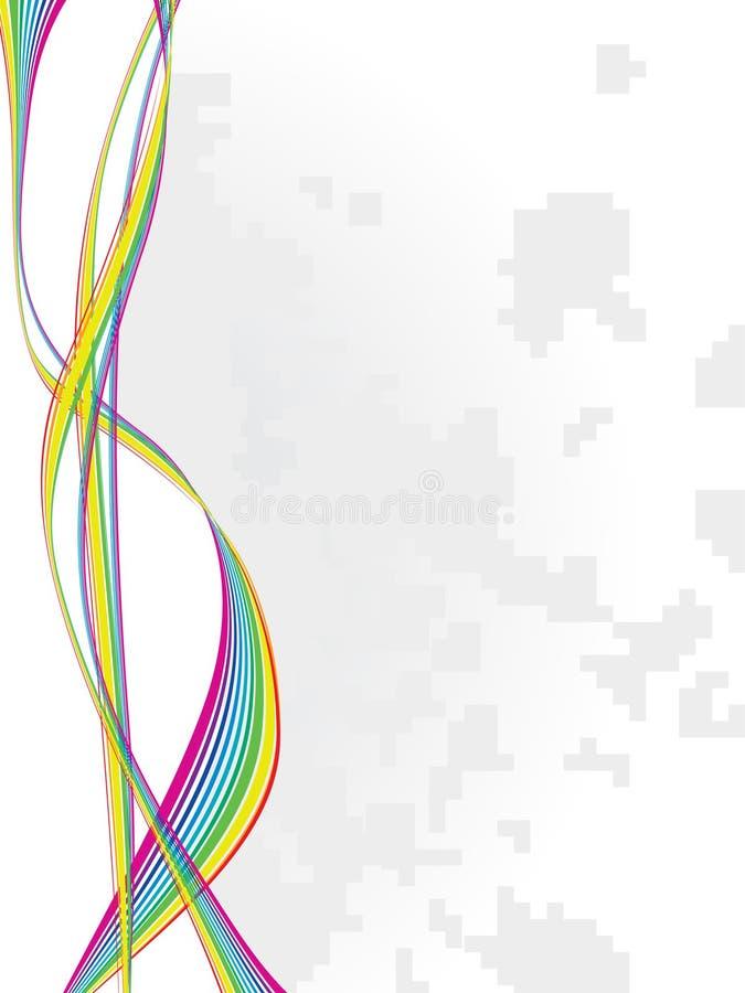 Linha da onda do arco-íris ilustração royalty free