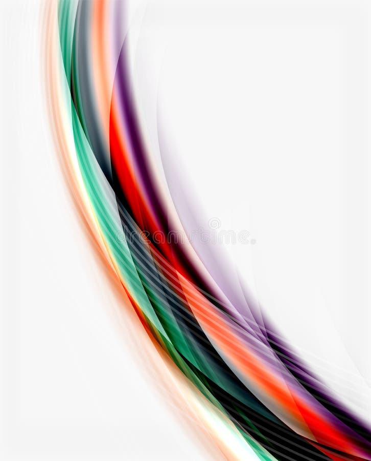 Linha da onda do vetor, negócio ou molde translúcido da tecnologia ilustração do vetor