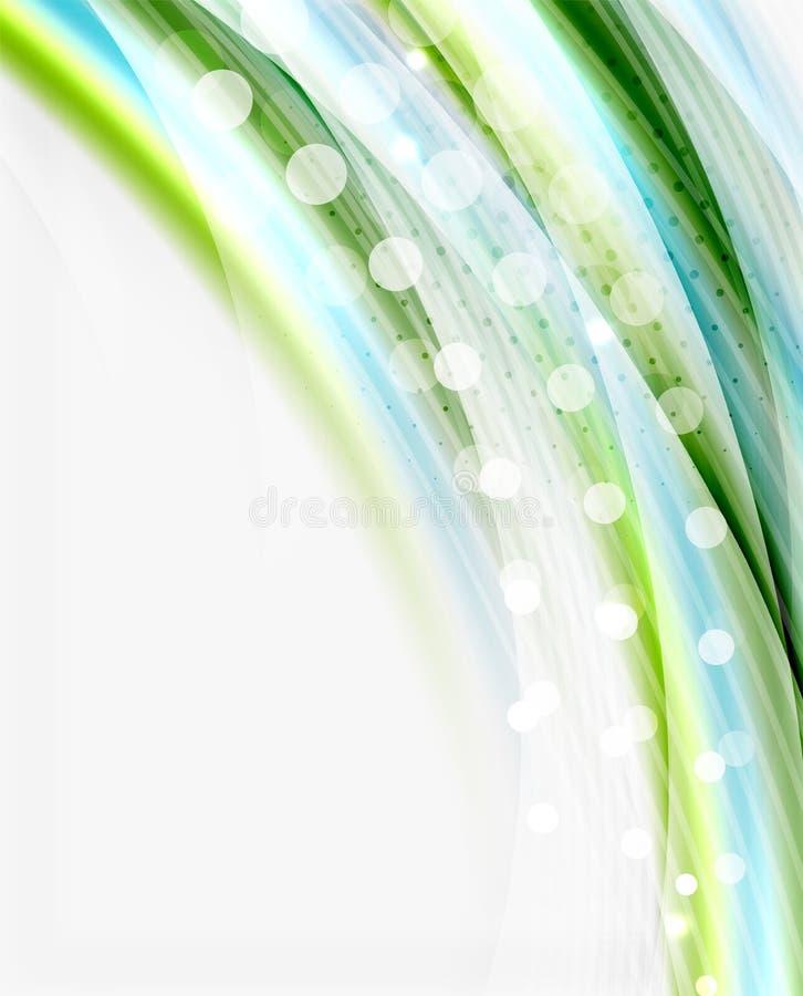 Linha da onda do vetor, negócio ou molde translúcido da tecnologia ilustração royalty free