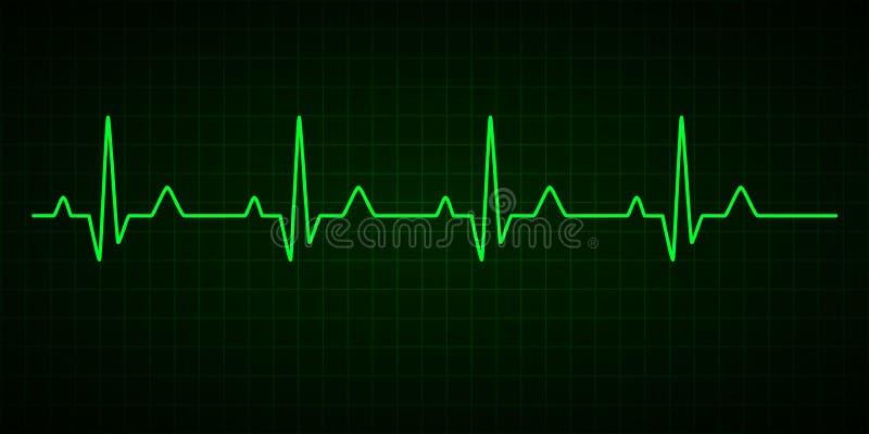 Linha da pulsa??o do cora??o cardiogram electrocardiogram Ilustra??o do vetor ilustração do vetor