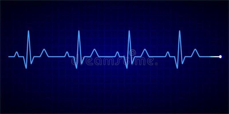 Linha da pulsa??o do cora??o cardiogram electrocardiogram Ilustra??o do vetor ilustração stock