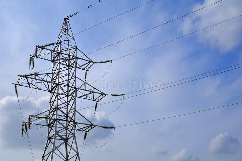 Linha da transmissão tower foto de stock