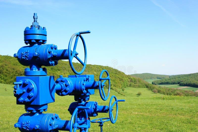 Linha da tubulação de gás imagem de stock