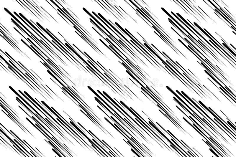 Linha da velocidade abstraia o fundo Banda desenhada da velocidade Símbolo do movimento, velocidade, explosão, esplendor, partícu ilustração stock