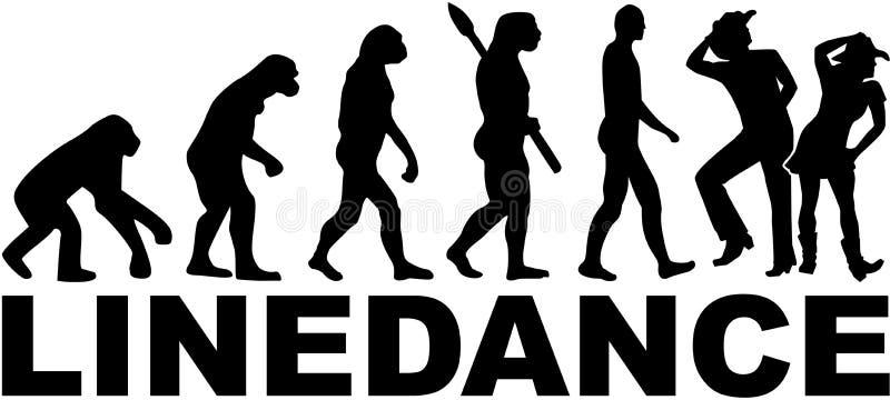 Linha dança da evolução ilustração stock