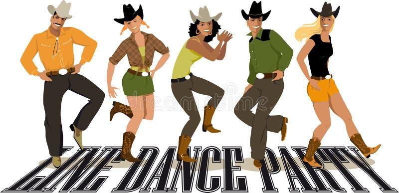 Linha dance party ilustração stock