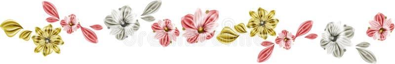 Linha das flores ilustração stock
