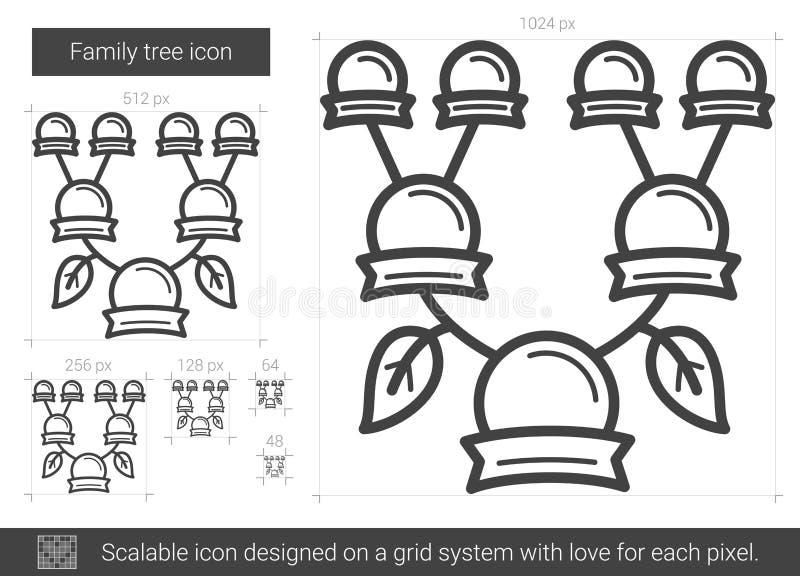 Linha de árvore genealógica ícone ilustração do vetor