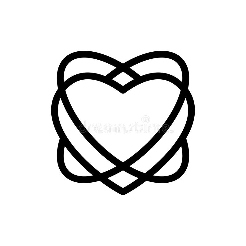 Linha de amor laboratório do coração ilustração do vetor