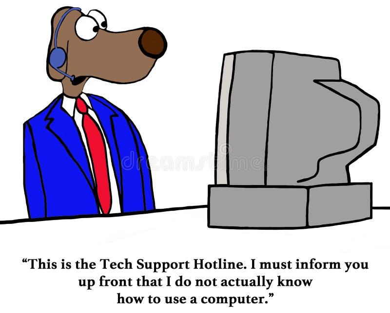 Linha de apoio ao cliente do suporte técnico ilustração stock