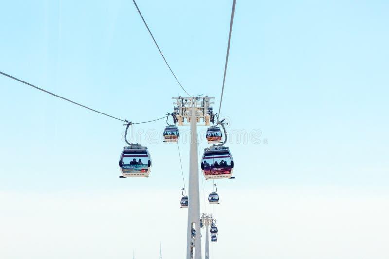 Linha de ar dos emirados foto de stock