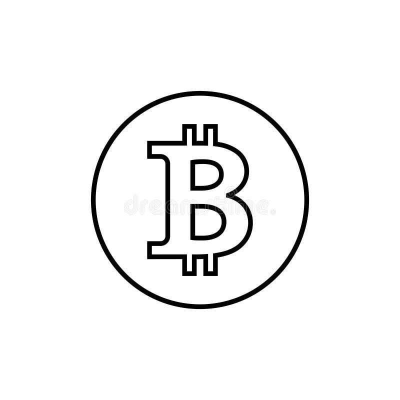 Linha de Bitcoin, ícone linear, sinal do vetor, símbolo do pagamento, logotipo da moeda Moeda cripto, eletr?nico virtual, dinheir ilustração do vetor