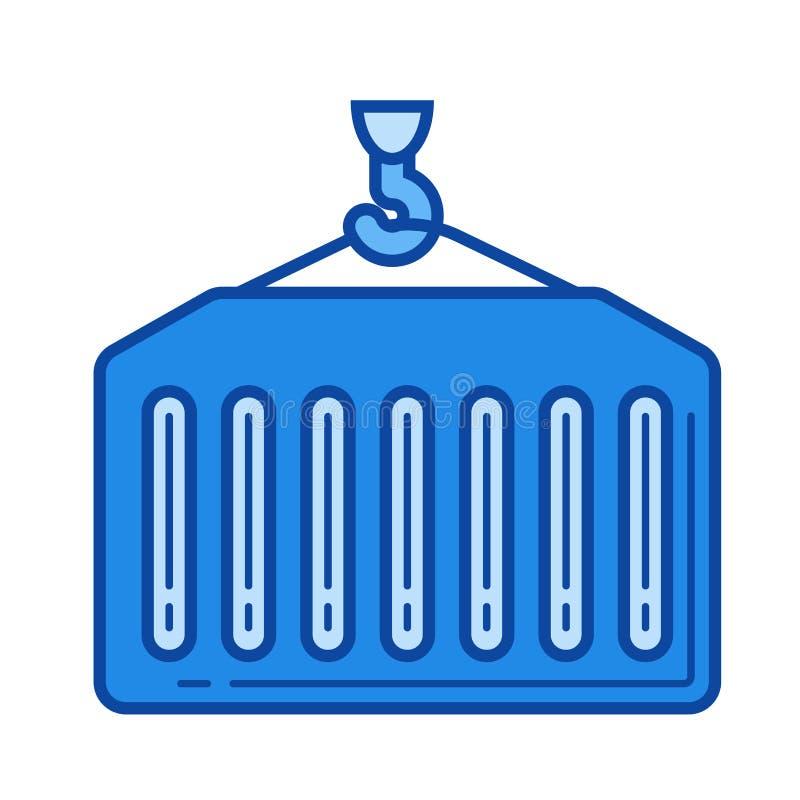 Linha de carga ícone ilustração stock