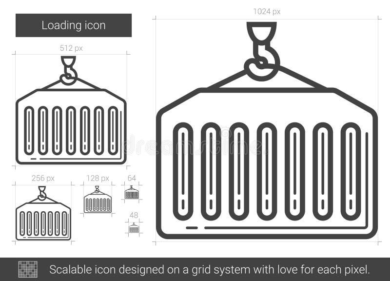 Linha de carga ícone ilustração do vetor